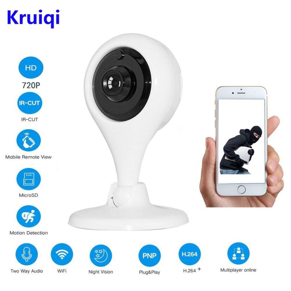 Kruiqi IR Cut Mini Wireless IP Camera Network Wifi 720P HD Camera CCTV Security Camera Home Security Baby Monitor V380 APP