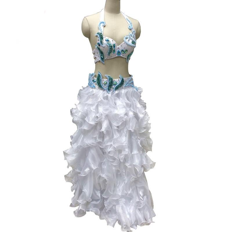 02fbda7da2 Orientalne cygańska indyjski taniec brzucha taniec kostium bellydance  kostiumy odzież biustonosz pas łańcuch pierścień szalik spódnica dress set  kostium 209
