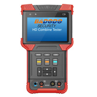 H.265 HD IP CVI TVI AHD and Analog CCTV Tester with POE and TDR for 4K and 8MP Camera. Test Monitor with Multimeter.