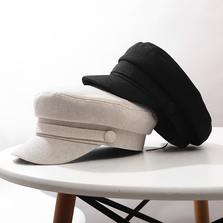 66a45b98cc86 Nueva gorra Retro de Color puro octagonal sombrero de algodón boina de  lengua para hombres mujeres ...