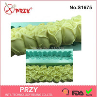 Wholesale Beautiful Rose Flowers And Swan Design Silicone Toast Soap Mold Molds Silica Gel Soap