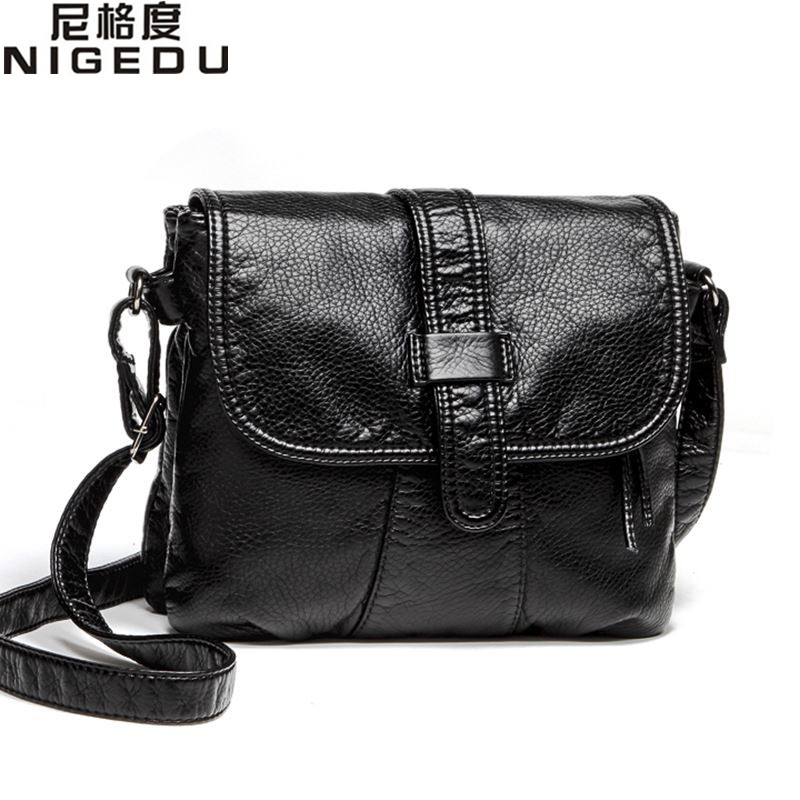 Soft leather Women Messenger bag casual women's shoulder Crossbody bag female handbag Black bolsa feminina girl bag new fashion women girl student fresh patent leather messenger satchel crossbody shoulder bag handbag floral cover soft specail