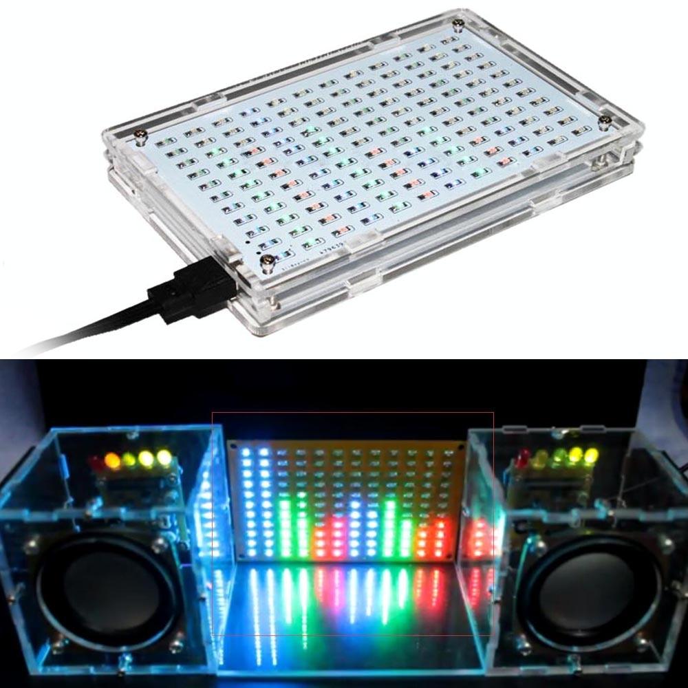 LED colorfule מוסיקה ספקטרום תצוגה אלקטרוני DIY אימון ריתוך הרכבה חלקי