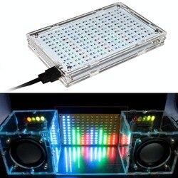 СВЕТОДИОДНЫЙ цветной дисплей музыкального спектра, электронные Запчасти для обучения сварке DIY