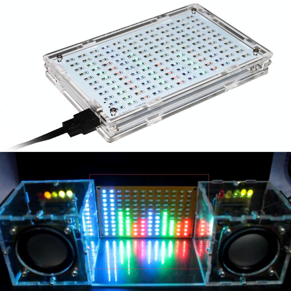 LED colorfule music spectrum display Electronic DIY training welding assembly
