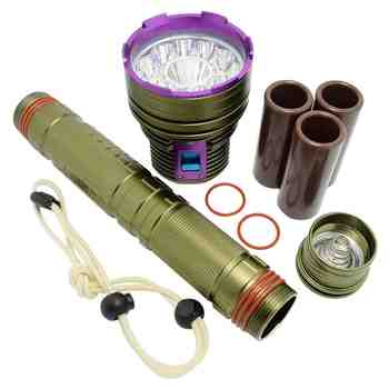 Diving LED Flashlight 20000 Lumens Underwater Hunting 100m Lantern for Spearfishing Tactical Military High Power L2 Flashlight