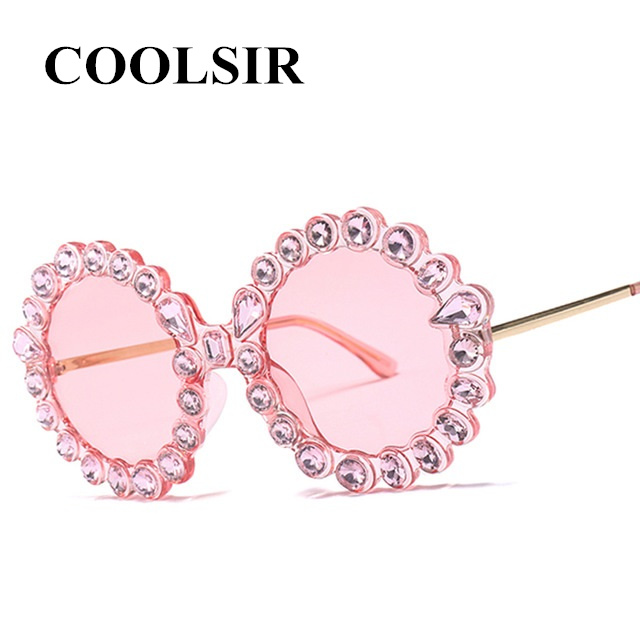COOLSIR Elegant Crystal Stone Women Sunglasses Brand Designer Sunglass Woman Sexy Female Fashion Luxury Quality UV400