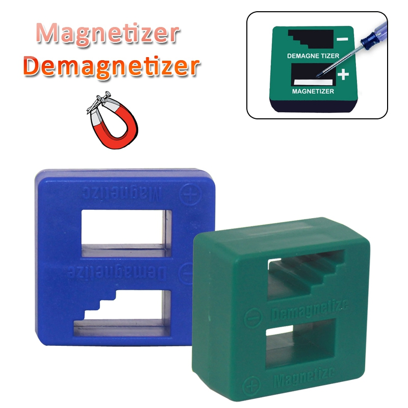 DSPIAE Blue Green Magnetizer Demagnetizer For Screwdriver Tips Screw Bits Magnetic Pick Up Tool Screwdriver High Quality 1Pcs