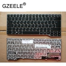 GZEELE UK For Fujitsu Lifebook E733 E744 E734 E743 GRAY FRAME without Backlit Win8 New Laptop Keyboard silver(China)