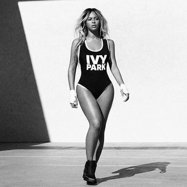 84af1fcd78 2018 High Cut Beyonce Jumpsuit IVY PARK Letter Print One Piece Swimsuit  Ladies Beach Bathing Suit Plus Size Swimwear Bodysuit
