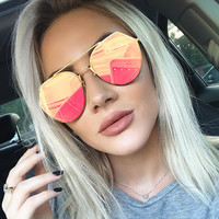 Luxury Cat Eye Sunglasses Women Brand Designer Vintage Sun Glasses For Women Female Ladies Sunglass Mirror 2017 Glasses UV400