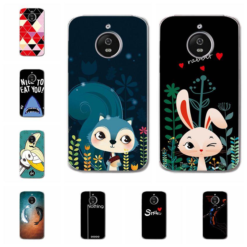 """Coque For MOTO E 4 Plus Cases Bunny Animal Flamingos Soft Silicone Phone Shell For Motorola MOTO E4 Plus Cover Fundas Capa 5.5"""""""