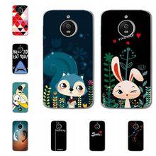 Coque For MOTO E 4 Plus Cases Bunny Animal Flamingos Soft Si