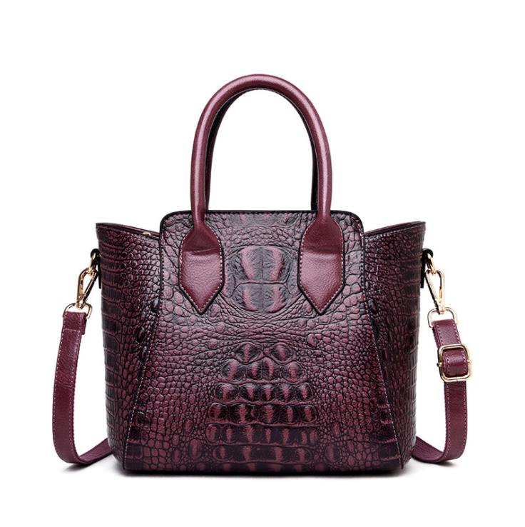 new 2019 new European and American fashion crocodile grain ladies handbags Selling high quality single shoulder
