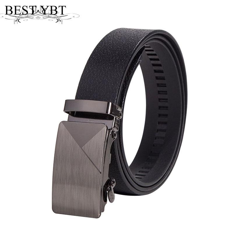 Best YBT Men Belt Imitation Leather Alloy Automatic Buckle Belt Business Affairs Simple Fashion Casual Hot Selling Belt