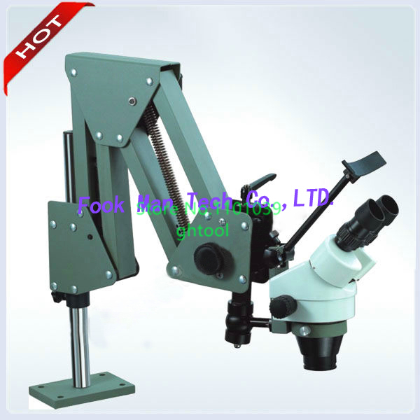 Free Shipping Jewelry Microscope 7X-45X Diamond Setting Microscope with 8W LED Light Sou ...