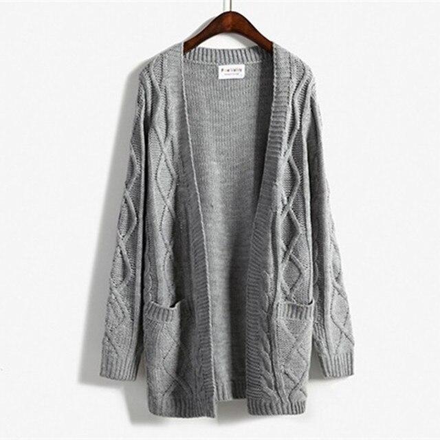Women Winter Sweaters Harajuku 2017 new winter coat thick twist sweater  Korean Girls long section long cfe9c99e6