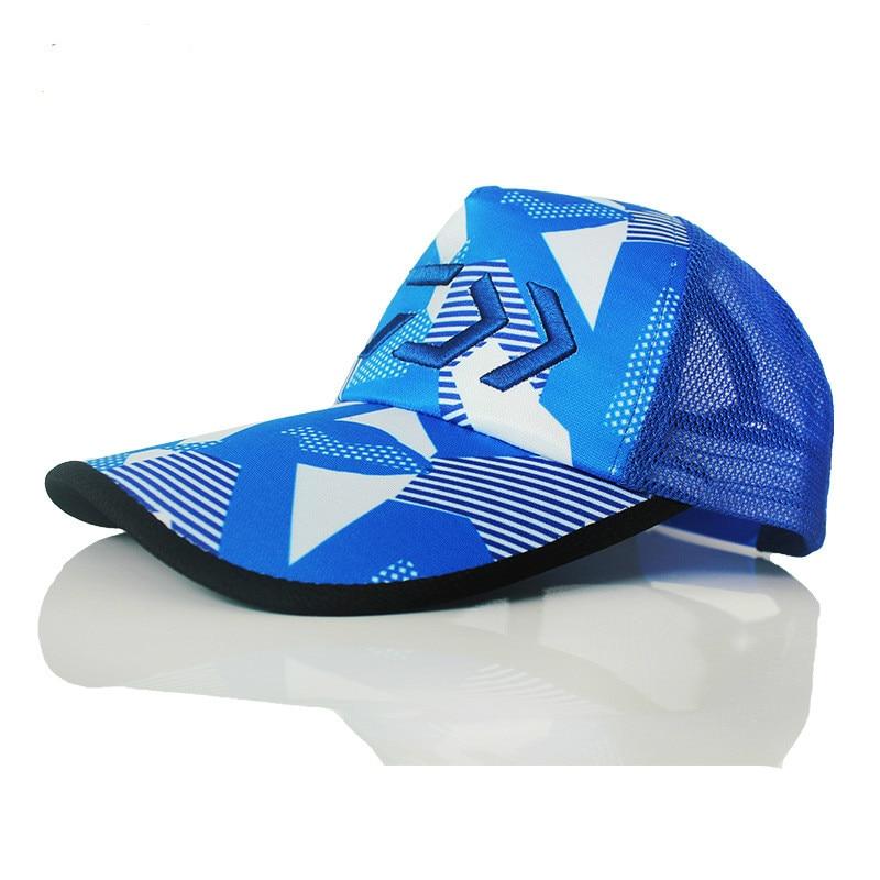 DAIWA DAWA Взрослый мужской Регулируемый дышащий рыболовный японский солнцезащитный козырек спортивная бейсбольная шляпа Fisher Мужская шляпа че...