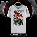 2017 hot Marvel The Avengers Camiseta hombre camisetas camisas Corto Cosplay anime unisex Tees Tops HU316-4