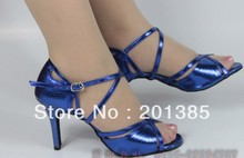 Ladies Blue Snakeskin Print Dance Shoes Latin Ballroom Shoes Salsa Dance Shoes Tango Shoes