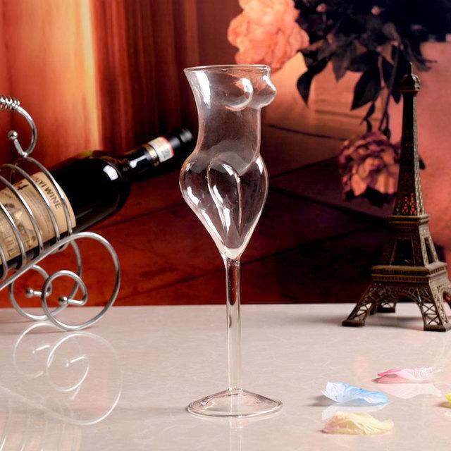 Creative Naked Woman Shaped Wine Glass