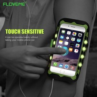 FLOVEME Universal Sports Pouch For IPhone 6 7 Plus Universal LED With Switch Light Emitting Sports