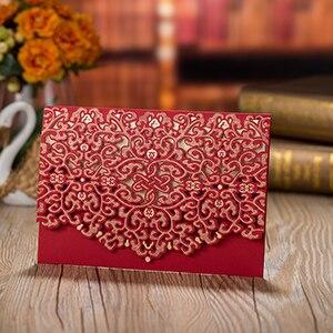 1pcs Sample High Quality Laser Cut Luxury Flora Wedding Invitations Card Elegant Lace Favor Wedding Party Supplies 185127mm