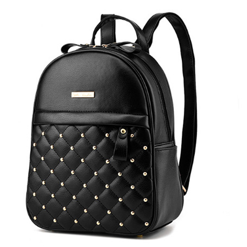 Backpack Women Pu Leather Female Backpacks Teenager School Bags Mochila Feminina Rucksack Mochilas Mujer 2018 #3