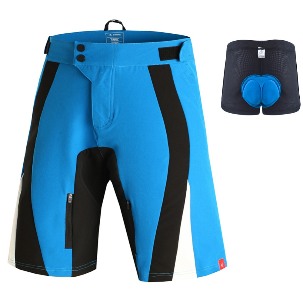 цена на SAENSHING MTB Shorts Men + Gel Padded Cycling Underwear Downhill Male Mountain Bike Shorts Breathable Sports bicycle Short Vtt