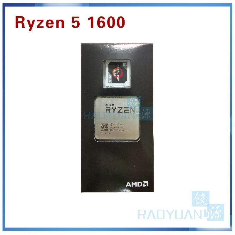 New AMD Ryzen 5 1600 R5 1600 3.2 GHz Six-Core Twelve Thread 65W CPU Processor YD1600BBM6IAE Socket AM4
