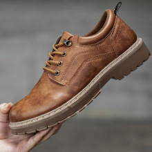 Г., мужская повседневная кожаная обувь мужские кожаные ботинки Martin Рабочая безопасная обувь зимние водонепроницаемые ботильоны