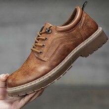 2018 Men Casual Leather Shoes Men Martin