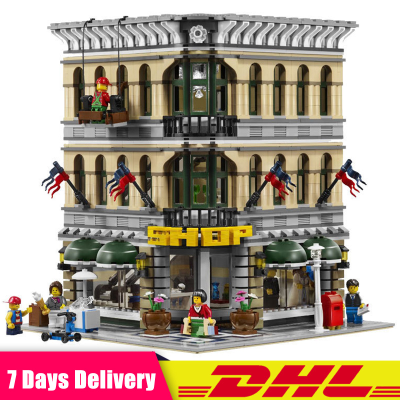 2018 City Grand Emporium Model Building Blocks Kits Bricks Educational Toys for Children Gifts Compatible LegoINGlys 10211