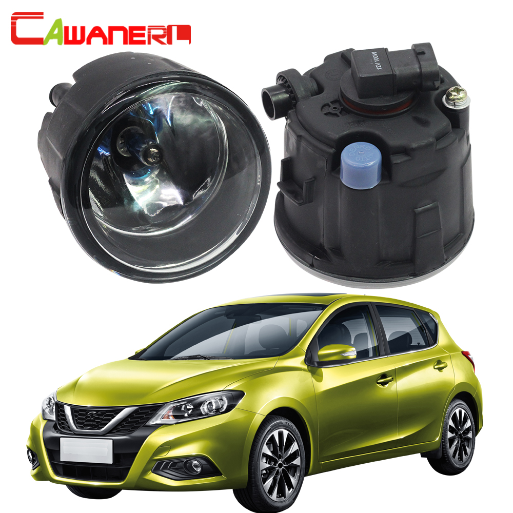 Cawanerl 2 Pieces 100W H11 Car Styling Halogen Fog Light Daytime Running Lamp DRL 12V For Nissan Tiida 2007-2012 cawanerl 2 x led fog light drl daytime running lamp car styling for nissan tiida hatchback saloon 2007 onwards