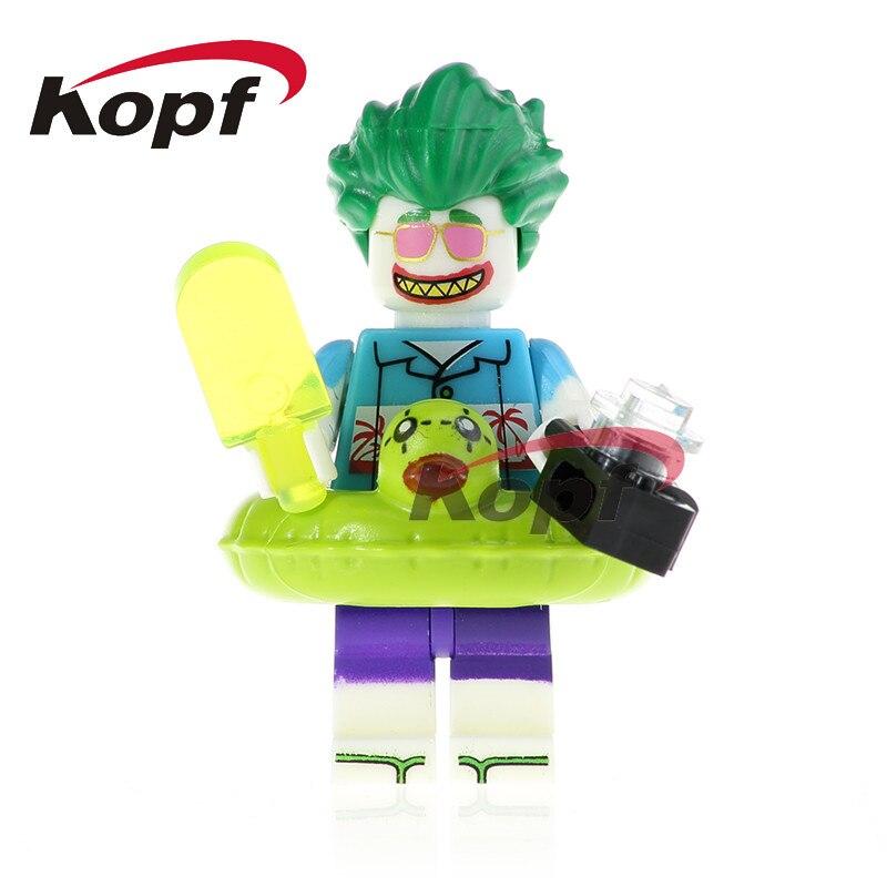 Single Sale Super Heroes Joker Harley Quinn Mermaid Batman Clock King Bricks Building Blocks Education Toys for children PG408