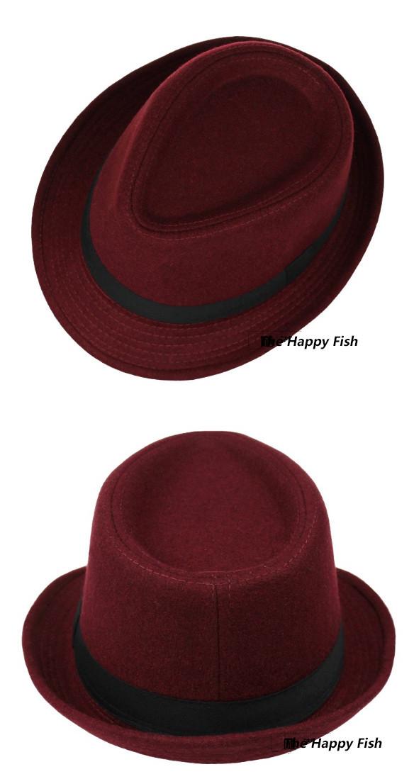 Original Unisex Structured Wool Fedora Hat Fedora hats for men fedora felt hat (15)