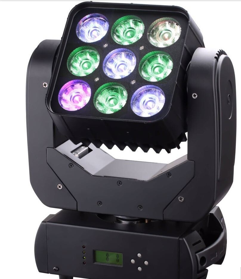 DHL Free Shipping 2xLot 2015 New 9x10W 4in1 RGBW Quad Led Beam Moving Head Matrix Stage Light For Disco110V-240V DMX 512 Control rs 4 in 1 4 in 1 toner cartridge chip resetter for samsung free shipping by dhl