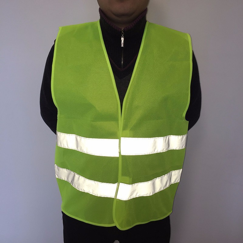 Plus Size 80gsm Reflective Vest Working Clothes Provides High Visibility Day Night For Running Cycling Warning Safety Vest safety reflective vest highlight reflector stripe for day night working