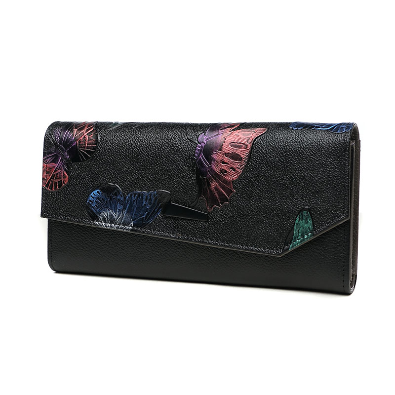 Vintage Quality Genuine Leather Fashion Women Wristlet Long Wallets Hand Clutch Bag High Capacity Purse Wallet Lady Card Holder nawo real genuine leather women wallets brand designer high quality 2017 coin card holder zipper long lady wallet purse clutch