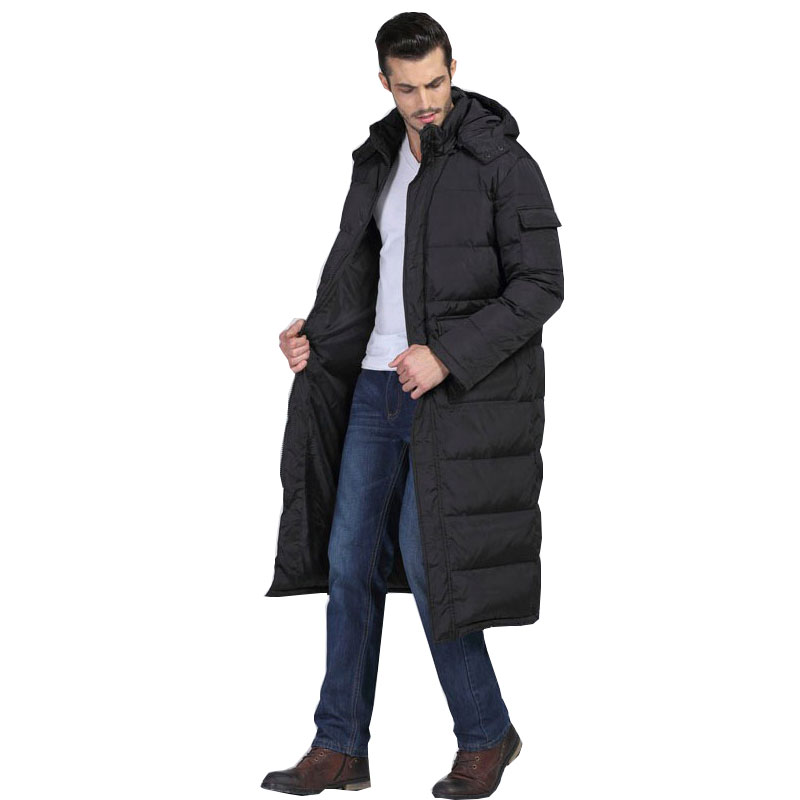 2017 Winter Coat Men's Warm Cotton Park Jacket Long section Cotton Clothes Over Knee thick Warm Hooded Casual Coat Brand Coat