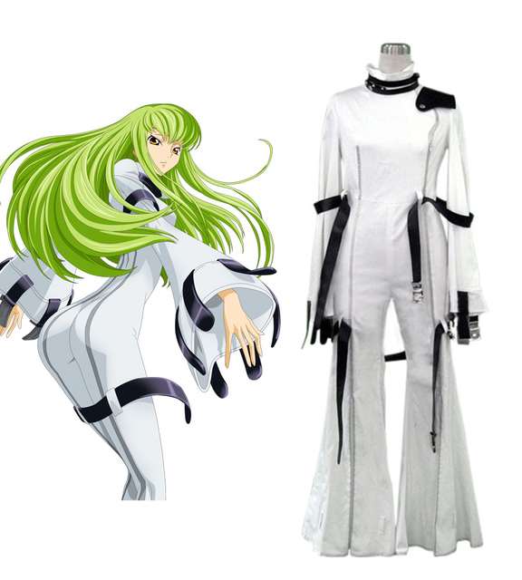 b406fb34551b Code Geass C.C. White Cosplay Costume-in Anime Costumes from Novelty ...