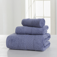 Bath Towels 3 Pcs Towel Sets Adults Luxury Brand 100% Cotton Towel Set Pure High Quality Soft Pink Vs Towels Bathroom 60YJ015
