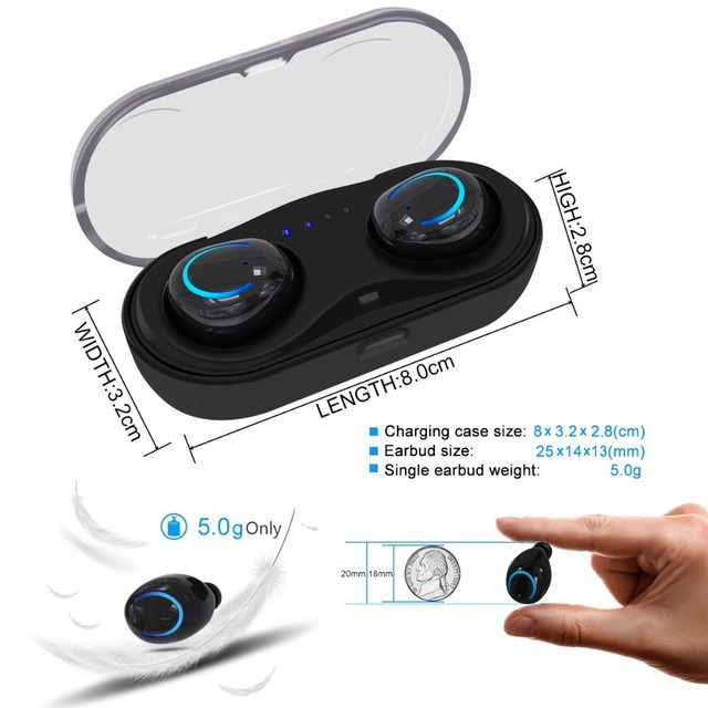 Bluetooth Earbuds with Built-in Microphone