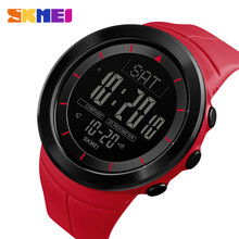 цена SKMEI 1403 Sports Watches Men Digital Wristwatches Outdoor Compass Pedometer Calorie 50M Waterproof Watches Relogio Masculino в интернет-магазинах