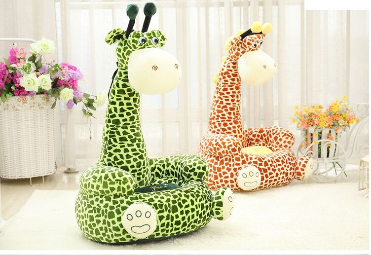 about 70x42cm cartoon giraffe design plush toy sofa tatami plush toy sofa floor seat cushion for children, birthday gift t5439 6pcs plants vs zombies plush toys 30cm plush game toy for children birthday gift