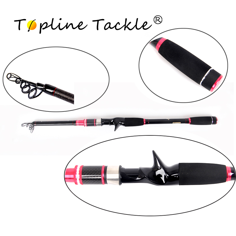 TopLine S'attaquer télescopique canne à pêche avec moulinet en fibre de carbone avec combo pôle flux spinning ensemble feeder tige cannes à pêche