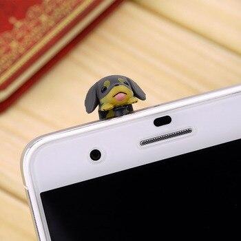 1pcs 3.5mm Dachshund Puppy Dog Dust Plug Cellphone Ear Anti Dust Jack Plug Ear Cap Hot Worldwide