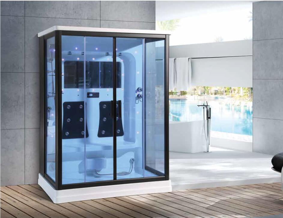 1600X1000X2200mm Bathroom Wall Against Steam Shower Enclosure Mult-Functional Computer Control Wet Sauna Room 7049A luxury steam shower enclosures bathroom steam shower cabins jetted massage walking in sauna room rs550