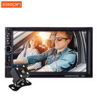 7inch Touchscreen Car MP5 Video Player 2Din 7060B Auto Audio Stereo Radio with Microphone Steering wheel Control Rearview Camera