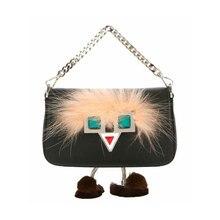 2017 bolsos de las mujeres mini hipnótico eye bolsas remache messenger bag bolso de hombro famoso diseñador de la marca monster pies de piel bolso de mano